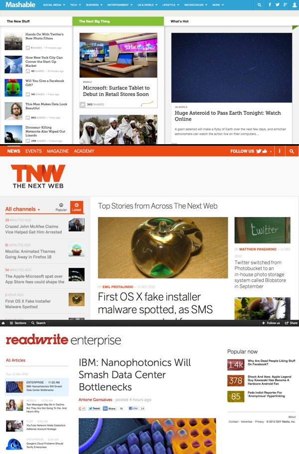 mashable-rww-tnw-redesigns