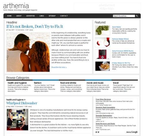Arthemia Theme