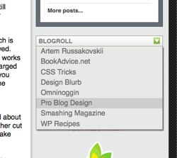 Pure CSS Dropdown Blogroll