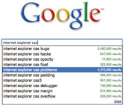Internet Explorer CSS