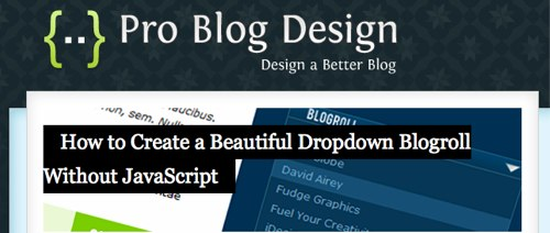 HTML Text Over an Image on Pro Blog Design