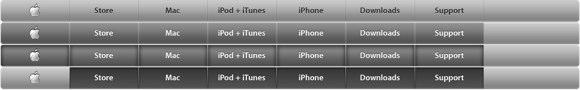 Apple navigation header sprite