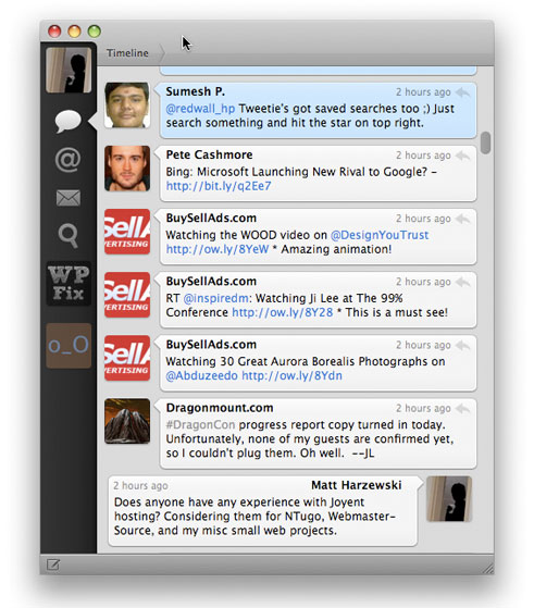 Tweetie for Mac Screenshot