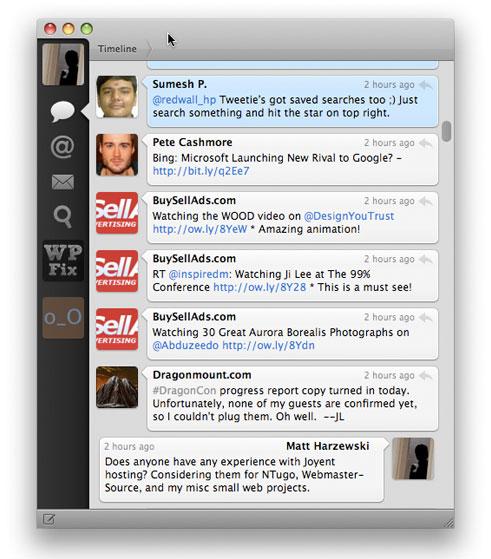 Tweetie for Mac Screenshot