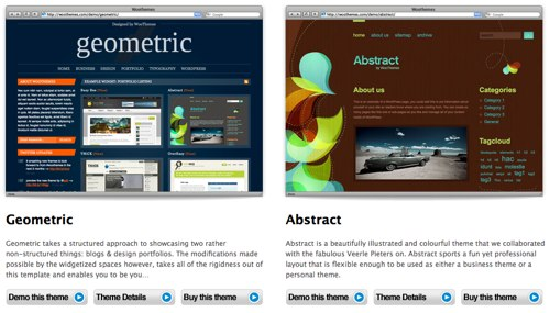 "WooThemes ""Our Themes"" Page (2 Columns)"